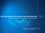 SAS Customer Intelligence Solution Briefing