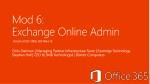 Mod  6:  Exchange Online Admin