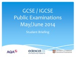 GCSE / IGCSE Public Examinations May/June 2014