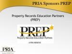 PRIA Sponsors PREP