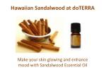 Hawaiian Sandalwood Essential Oil at doTERRA