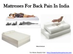 Mattresses for Back Pain in India