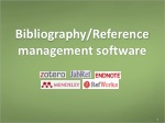 Bibliography/Reference management software
