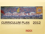Curriculum Plan    2012