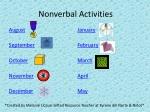Nonverbal Activities