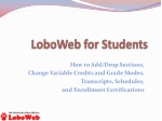 LoboWeb for Students