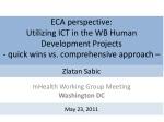 mHealth  Working Group Meeting Washington DC