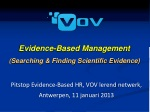 Evidence-Based Management ( S earching & Finding S cientific E vidence)