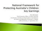 National Framework for Protecting Australia's Children: key learnings