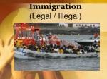 Immigration  (Legal / Illegal)