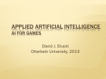 Applied Artificial  Intelligence AI for  Games