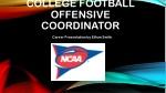 College football Offensive Coordinator