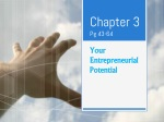 Chapter 3 Pg 43-64  Your Entrepreneurial Potential