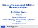 Nanotechnologies and Safety of Nanotechnologies