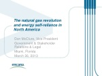 The natural gas revolution and energy self-reliance in North America