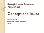 Strategic Human Resources  Management Concept and Issues