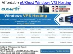 Affordable eUKhost Windows Vps Hosting Services