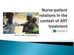 Nurse-patient relations in the context of ART treatment