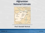Afghanistan National Estimate