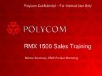 RMX 1500 Sales Training