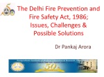 The Delhi Fire Prevention and Fire Safety Act, 1986; Issues, Challenges &  Possible Solutions