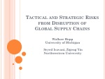 Tactical and Strategic Risks from Disruption of Global Supply Chains