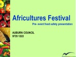 Africultures  Festival                              Pre- event food safety presentation