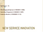 NEW  SERVICE INNOVATION