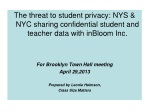 NYS & 7 other states plan to share confidential student data with  inBloom  Inc.