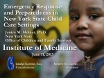 Emergency Response and Preparedness in New York State Child Care Settings