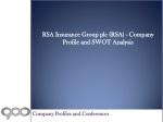 RSA Insurance Group plc (RSA) - Company Profile and SWOT Ana
