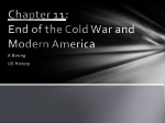 Chapter 11 :  End of the Cold War and Modern America
