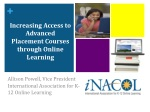 Increasing Access to Advanced Placement Courses through Online Learning