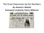 The Great Depression by the Numbers