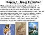 Chapter 5 – Greek Civilization