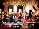 Lesson 8.2: The Constitutional Convention