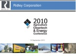 Ridley Corporation