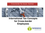 International Tax Concepts for Cross-border Employees