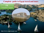 Complete guide to Egypt travel and tours