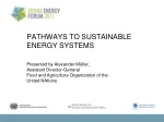 PATHWAYS TO SUSTAINABLE ENERGY SYSTEMS