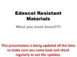 Edexcel Resistant Materials