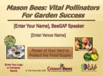 [Enter Your Name], BeeGAP Speaker