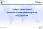 Culligan International Dealer Portal and QAD Integration Using QXtend