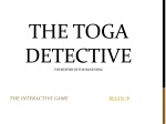 The Toga Detective The Mystery of the signet ring