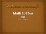 Math 10 Plus