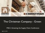 The Christman Company - Green