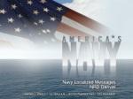 Navy Localized Messages NRD Denver