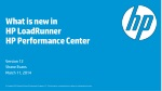 What is new in HP LoadRunner  HP Performance Center