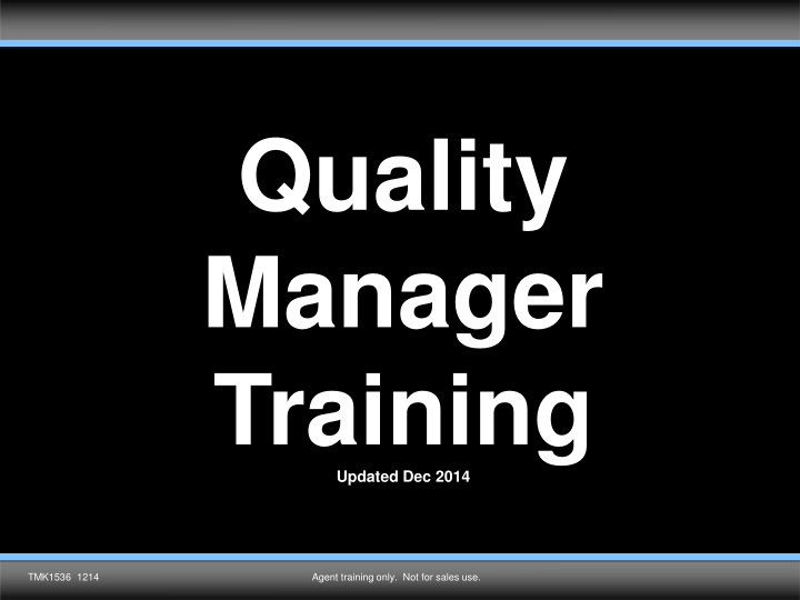 quality manager training updated dec 2014 n.
