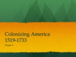 Colonizing America 1519-1733